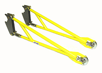 Safety Girdle Standard 3 16 Double Shear Axle Brackets Grade 8 Bolts Nylon Lock Nuts Included Ladder Bars Are Bright Yellow Powder Coated As Well