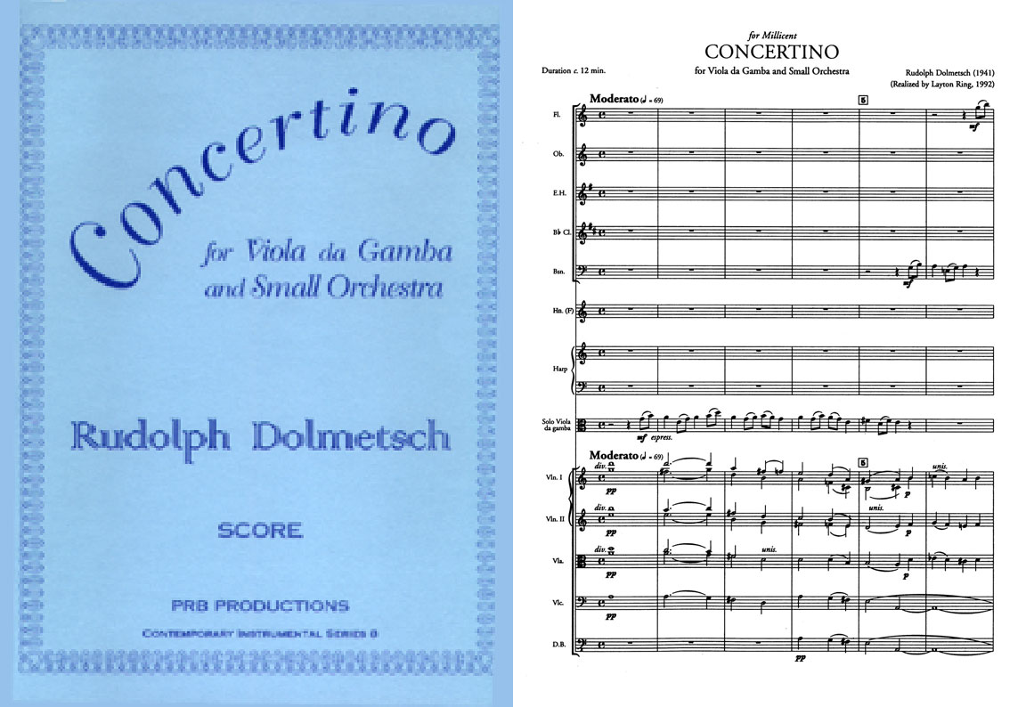 Rudolph Dolmetsch - Concertino for Viola da Gamba and Small Orchestra